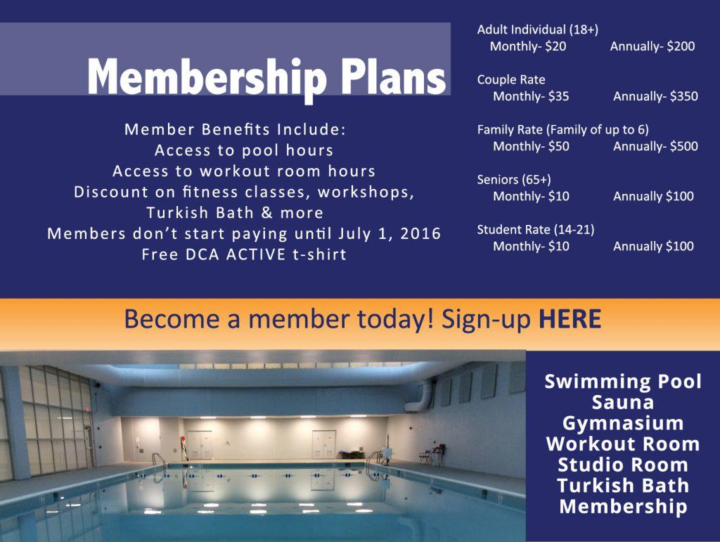 DCA Active- Membership Info Website
