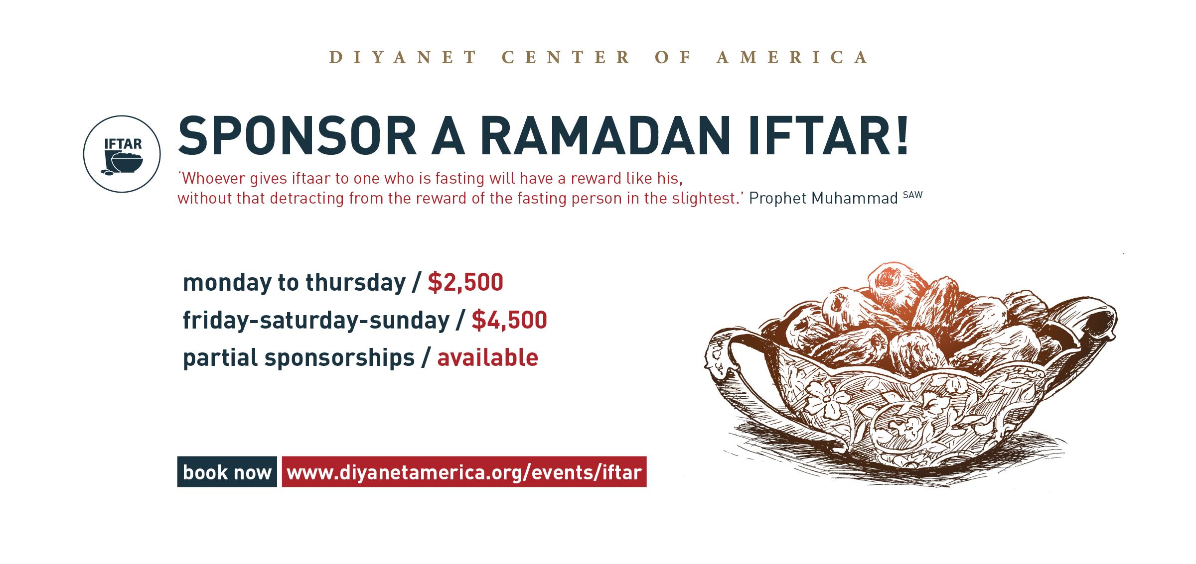 Iftar Sponsorship - Ramadan 2018