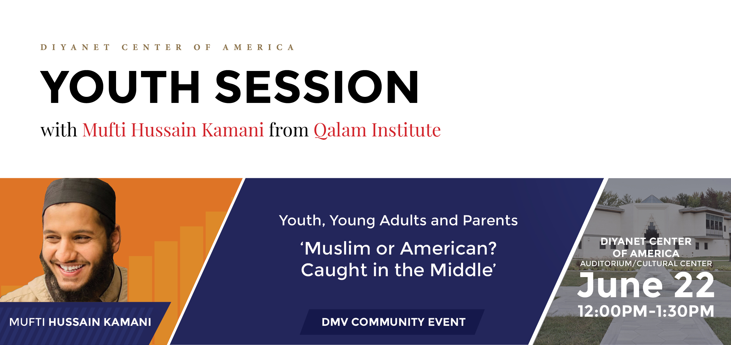 'Muslim or American? Caught in the Middle?' Youth Session by Mufti Hussain Kamani