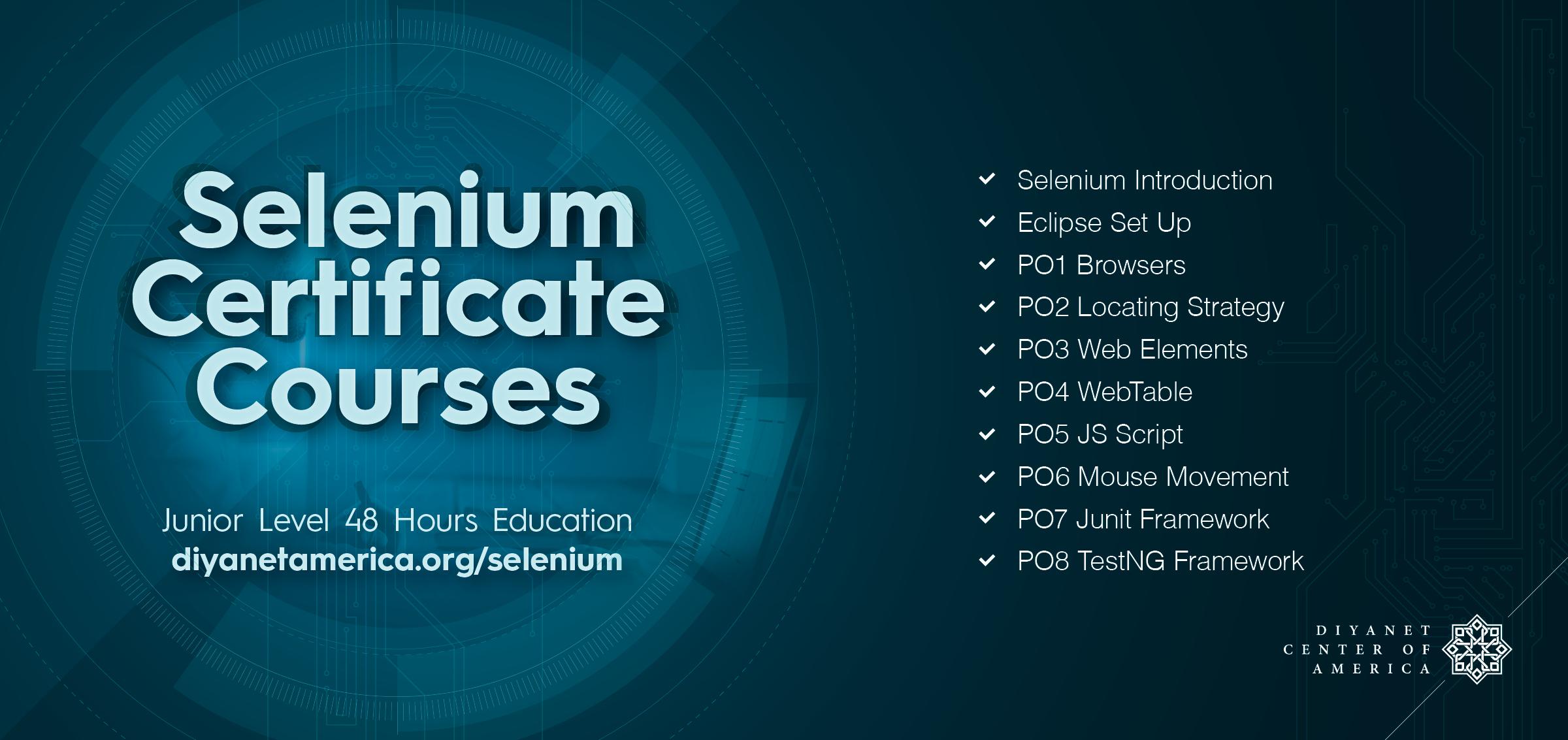 Selenium Certificate Course