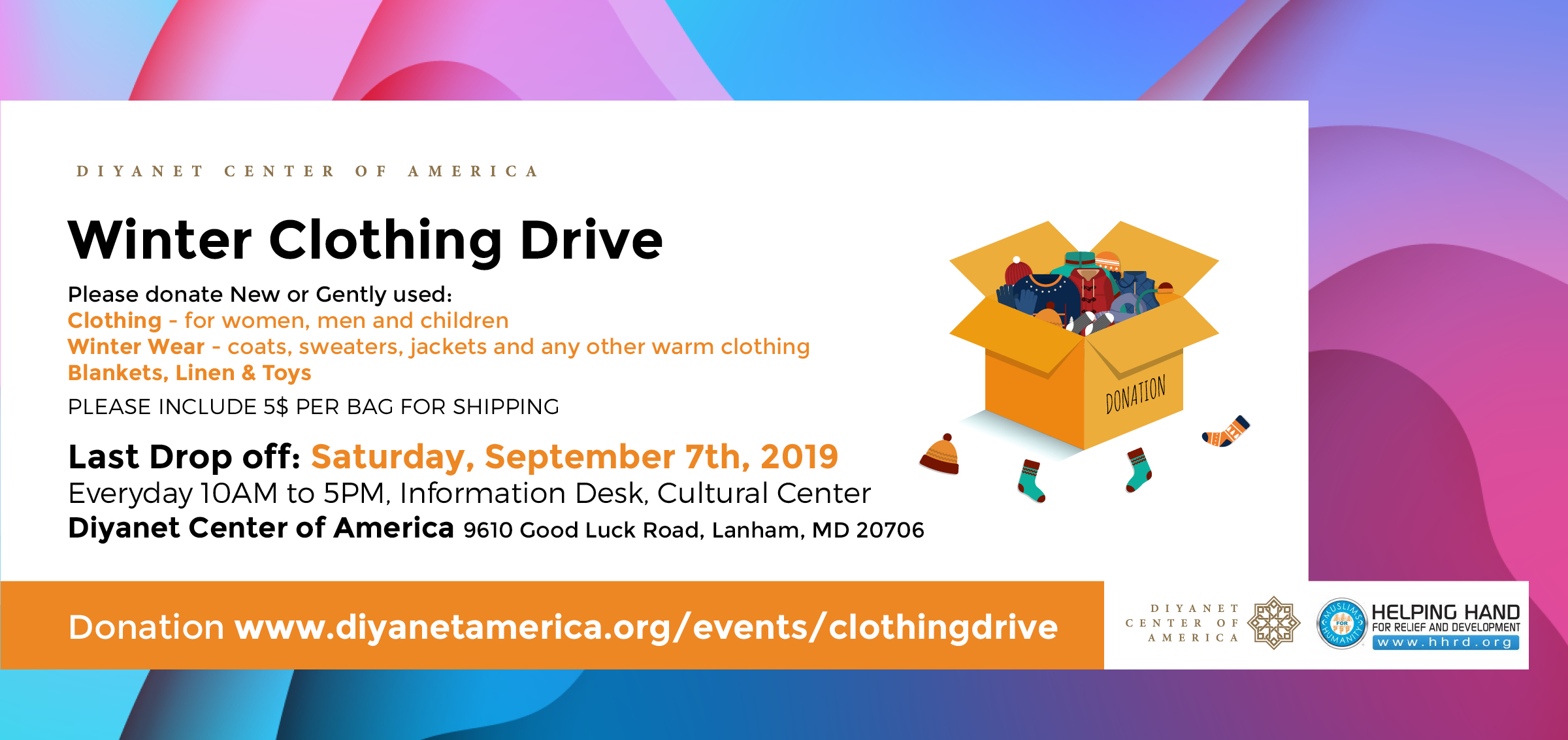 Winter Clothing Drive by DCA and HHRD