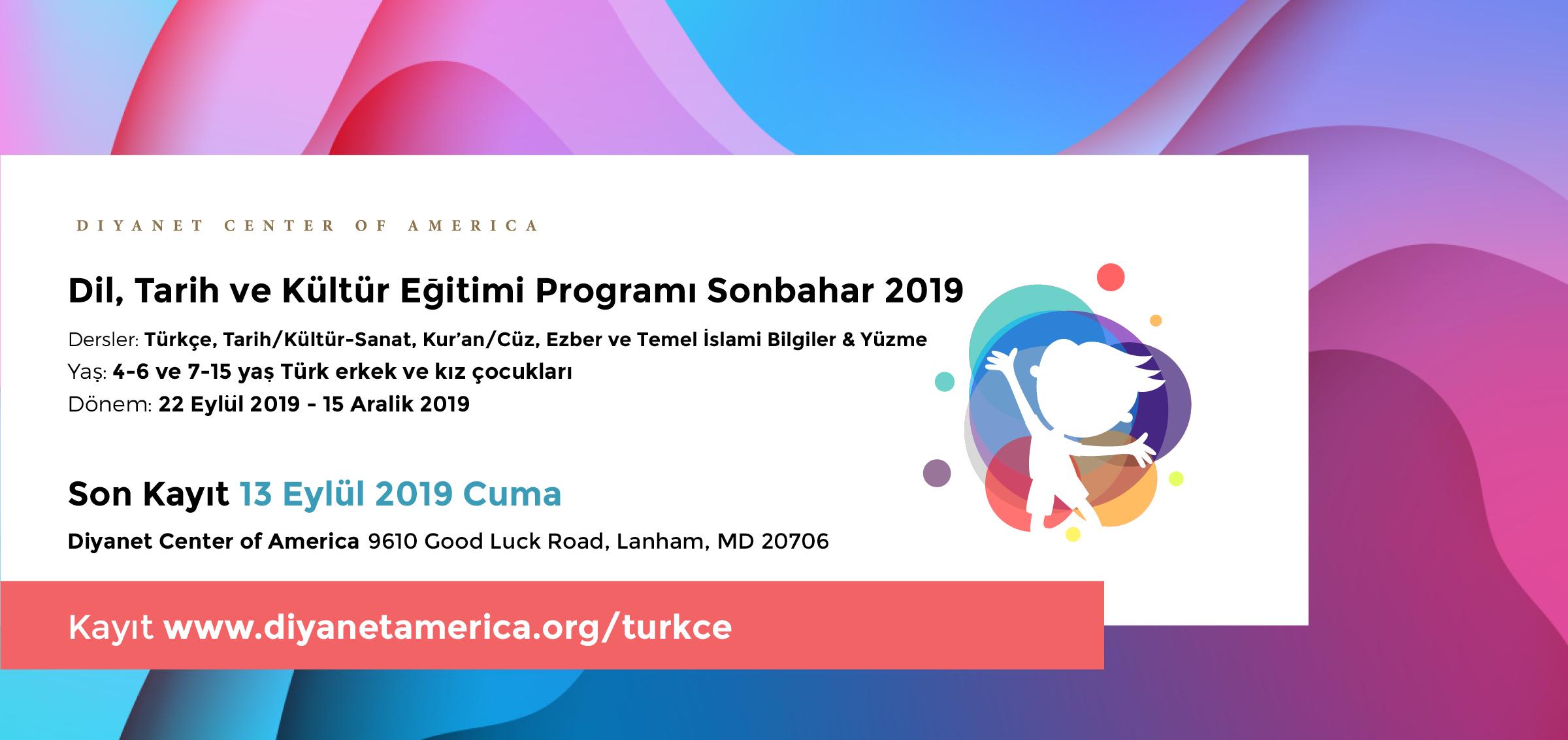 DCA Dil, Tarih ve Kültür Eğitimi Programı Sonbahar 2019