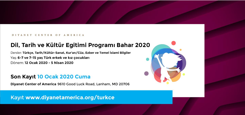 DCA Dil, Tarih ve Kültür Eğitimi Programı Bahar 2020