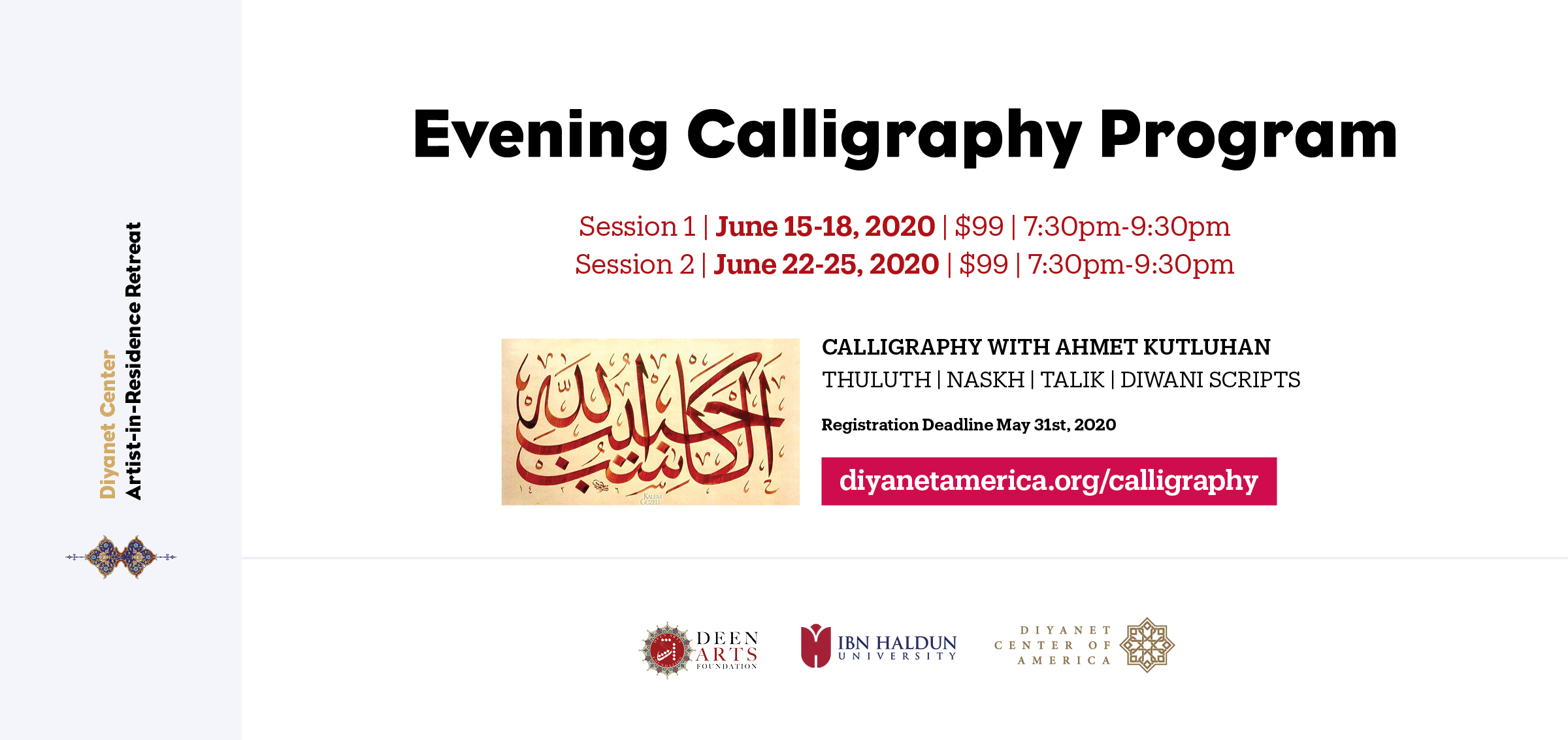 Calligraphy Evening Program - Artist-in-Residence Retreat