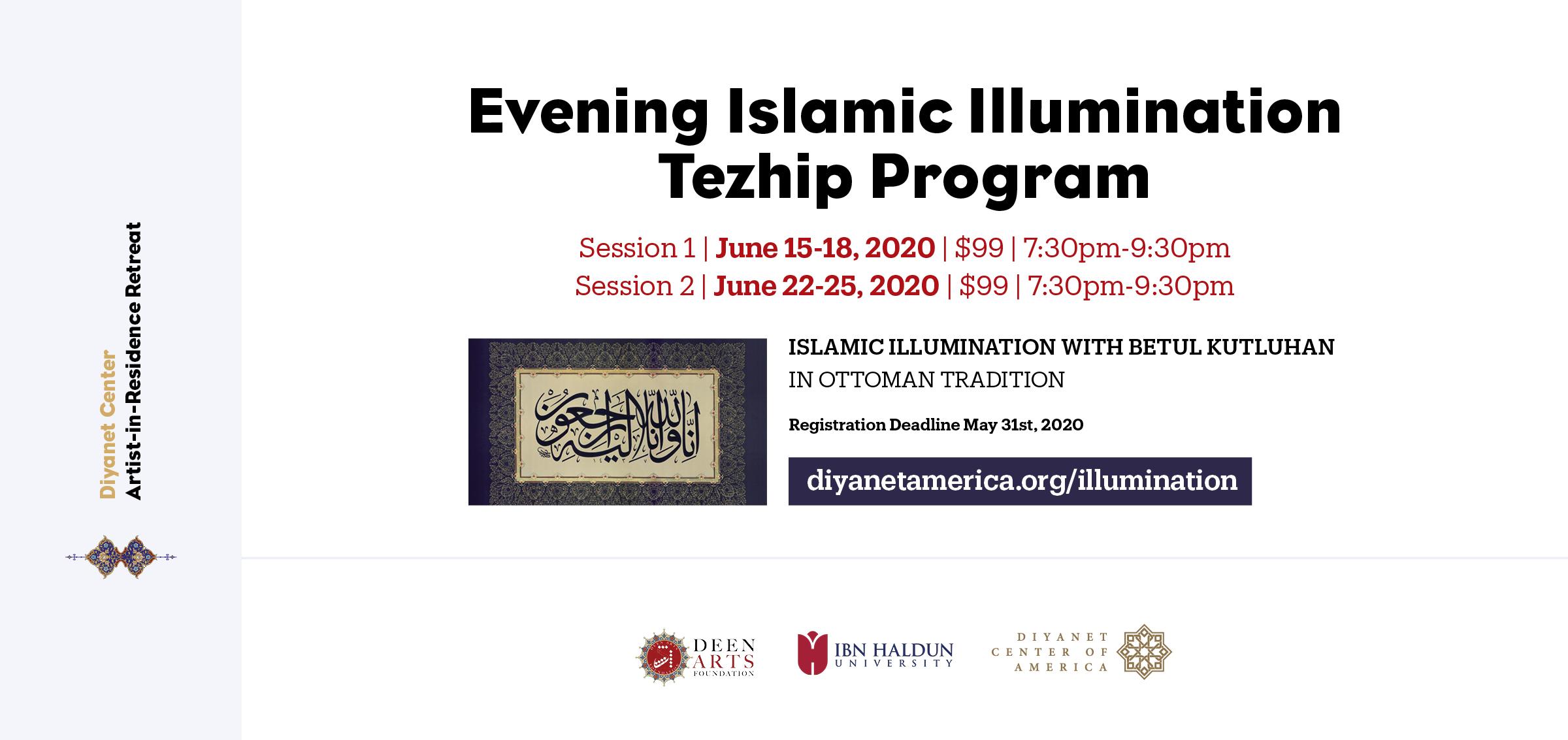 Islamic Illumination - Tezhip Evening Program - Artist-in-Residence Retreat