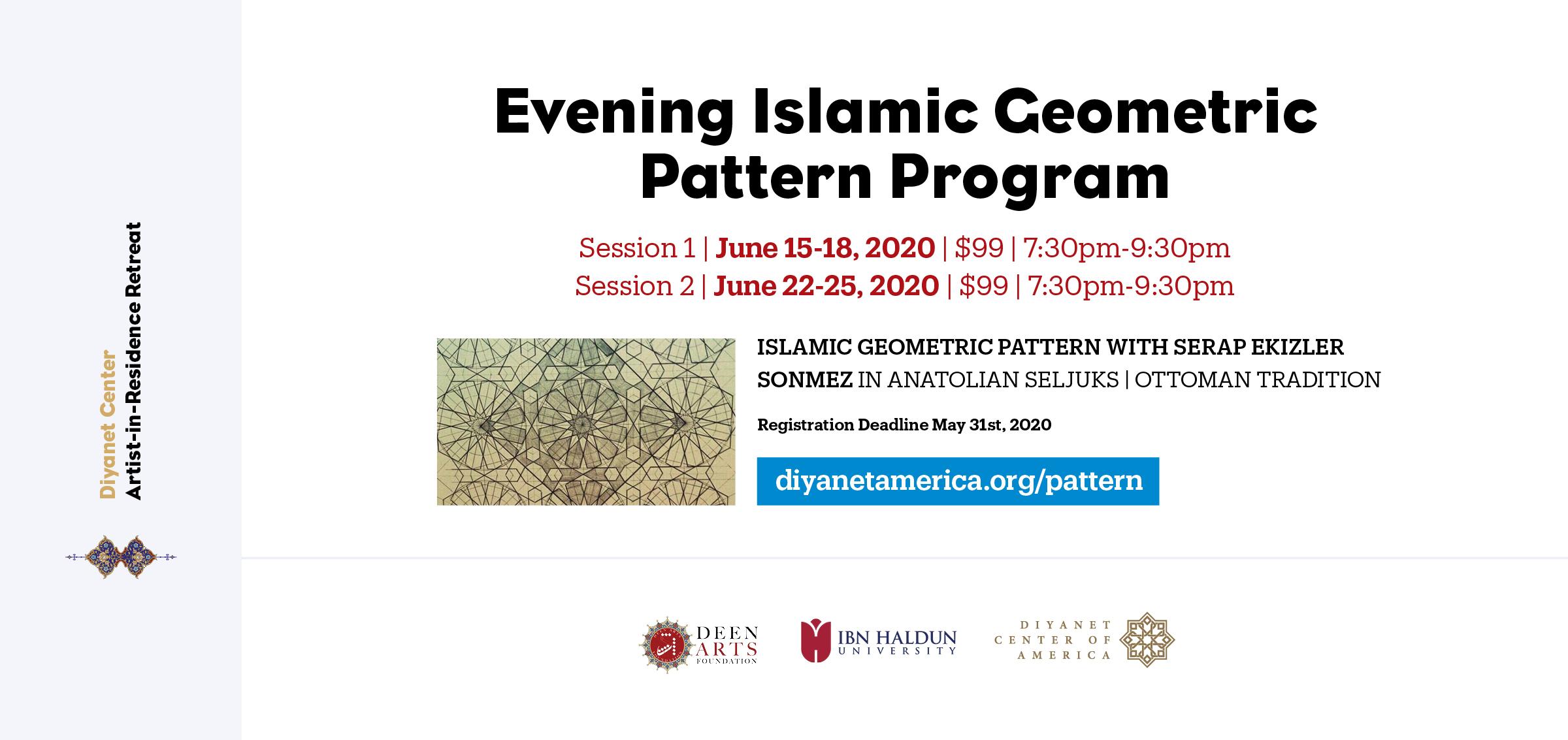 Islamic Geometric Pattern Evening Program - Artist-in-Residence Retreat