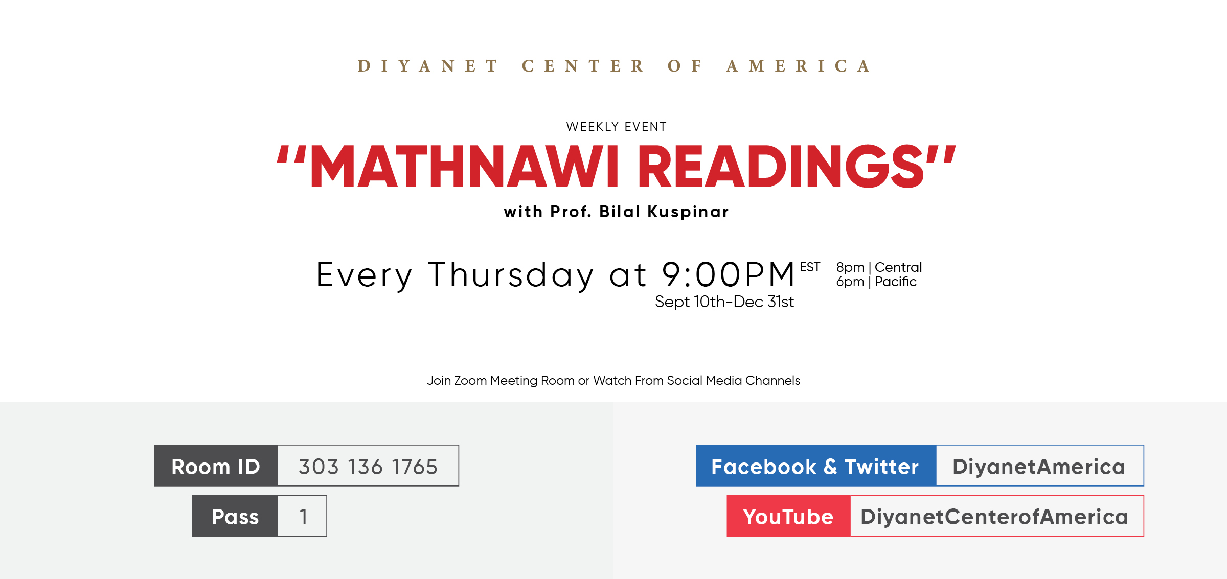 Mathnawi Readings | Weekly Online Event