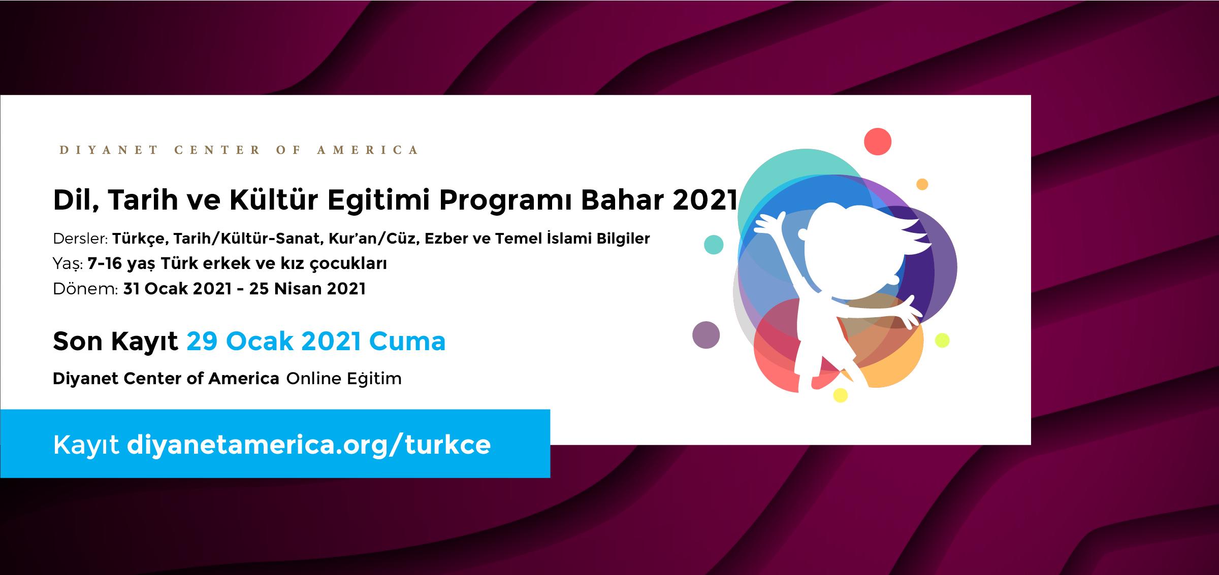 DCA Dil, Tarih ve Kültür Eğitimi Programı Bahar 2021