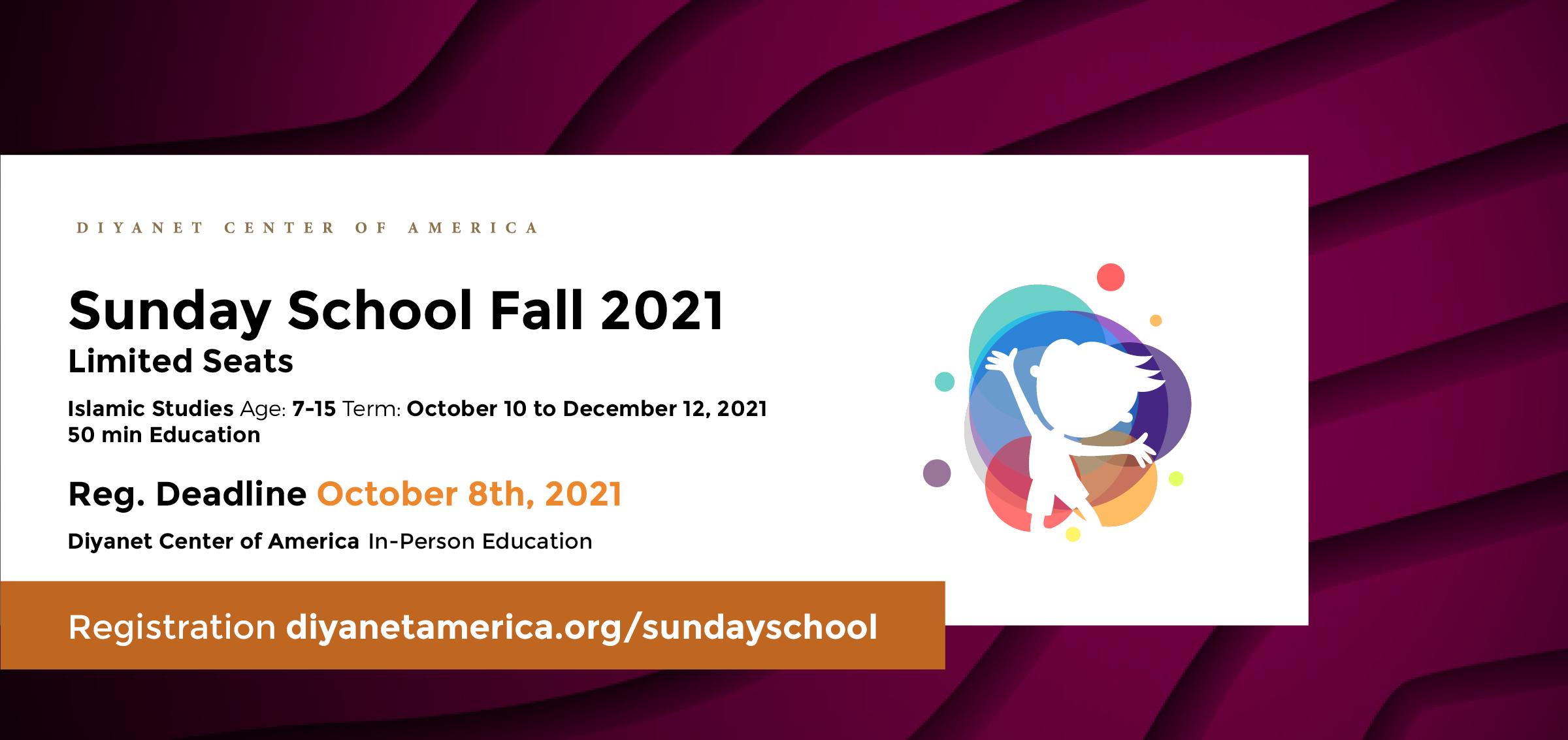 DCA Sunday School Fall Semester 2021